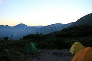 切合小屋からの大日岳