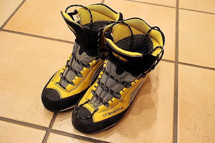 ラスポルティバ トランゴ 怖い想いを共にした登山靴