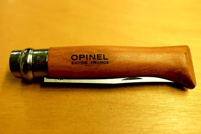 オピネルのナイフで山ごはんを楽しむ