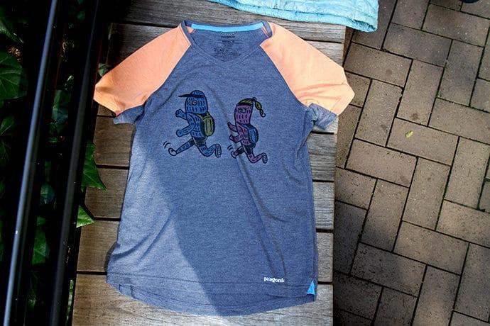 パタゴニアのナイントレイルズTシャツ