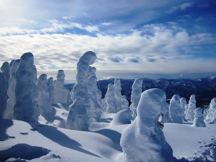 阿仁ゴンドラで行く 森吉山の樹氷鑑賞