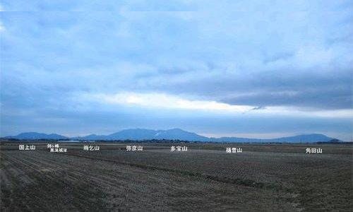 弥彦山からの越後平野