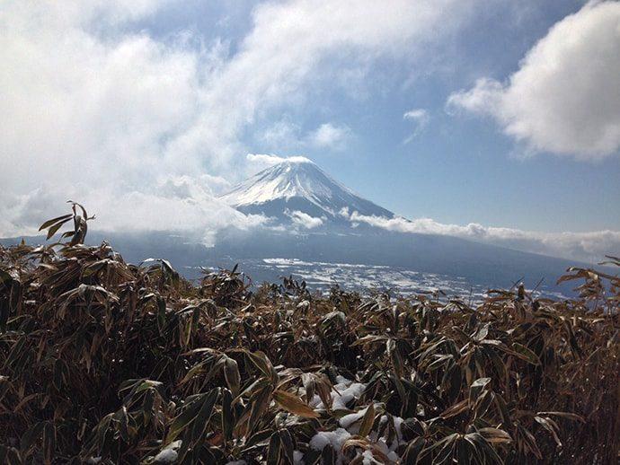 冬は空気が澄んでいて、いい富士山がみえる