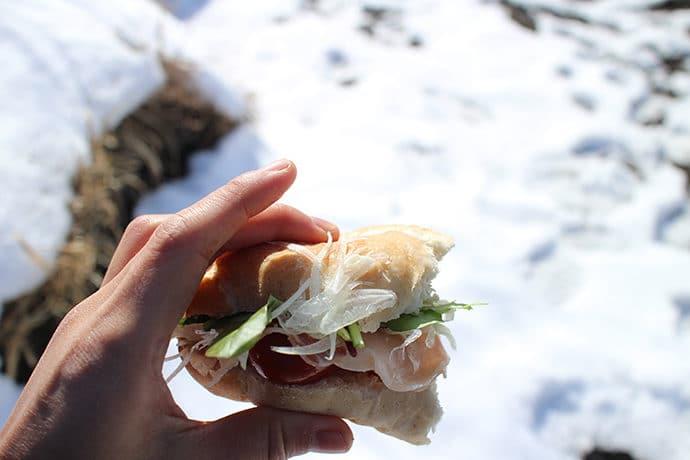 山ごはんランチはサンドイッチ