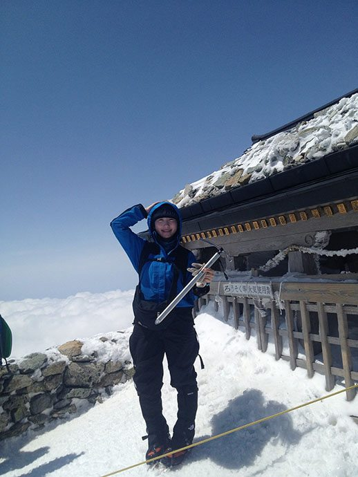 立山で雪盲
