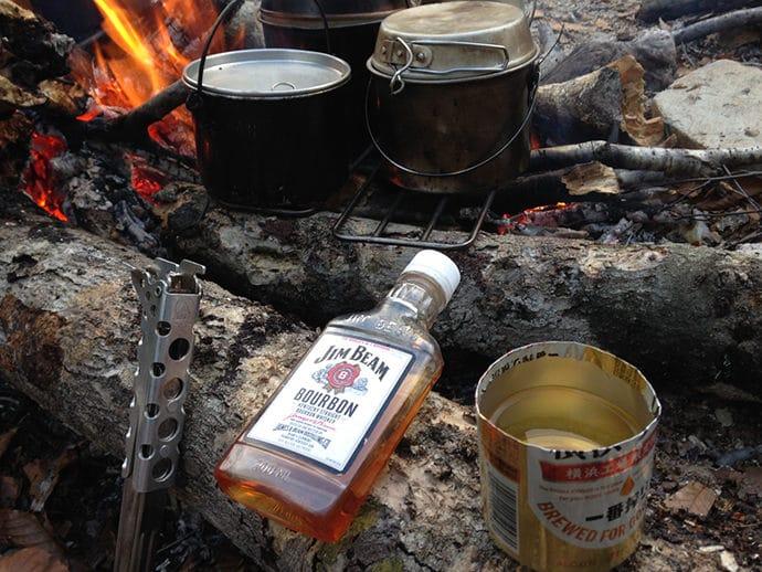 パーセルトレンチグリルで焚き火調理