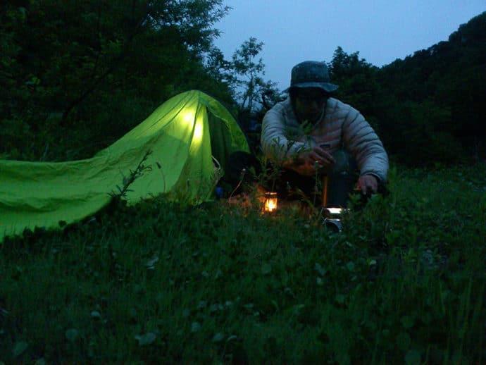 テント泊で釣り