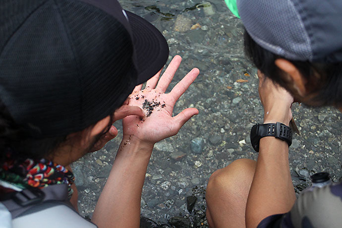 岩魚を解体