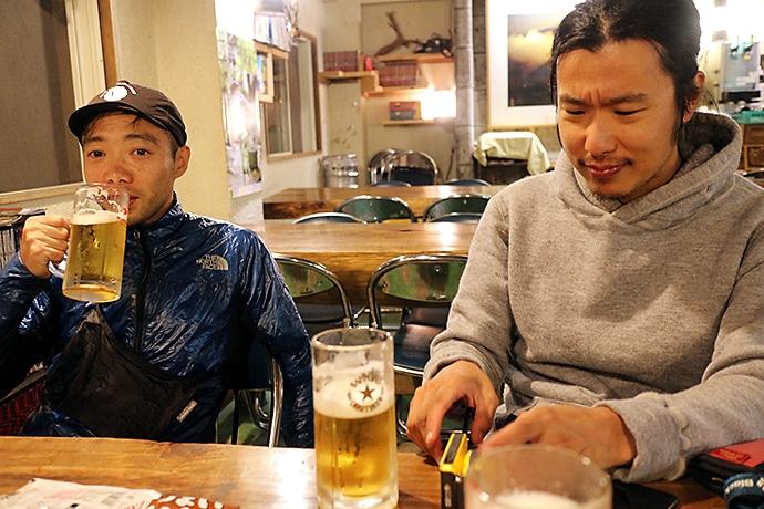 生ビールで至福の時間