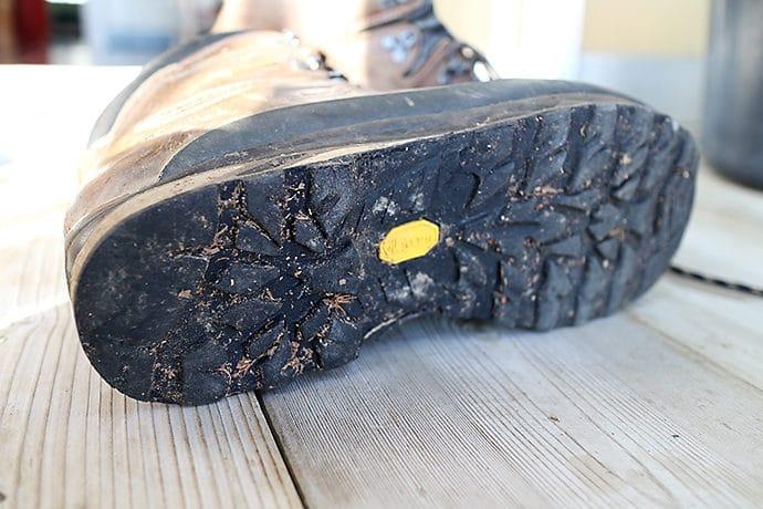 登山靴のソース部分
