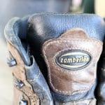 皮の登山靴