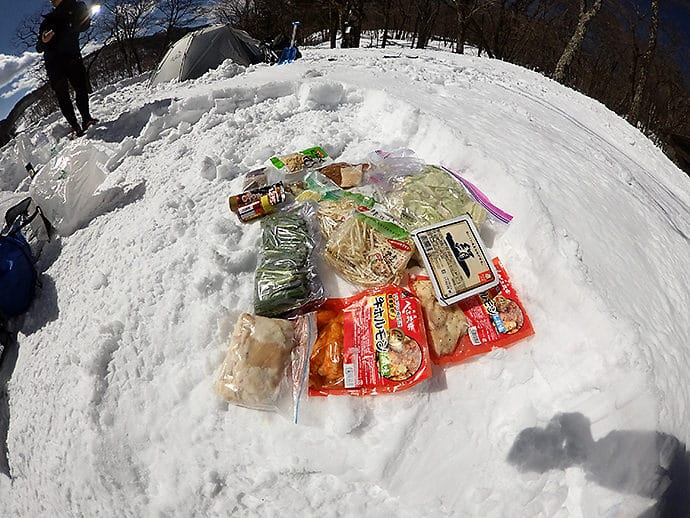 キャンプでの食材