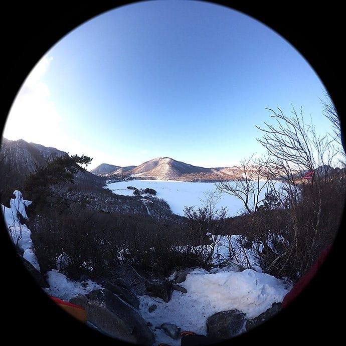 大沼、地蔵岳の眺め