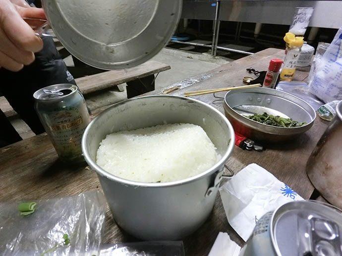 ナルゲン OTFボトルを使って米を炊く
