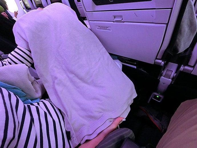 ニュージーランド航空の毛布