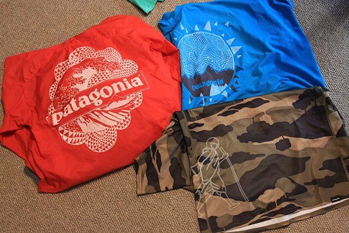 パタゴニアのTシャツに思い出をプラス