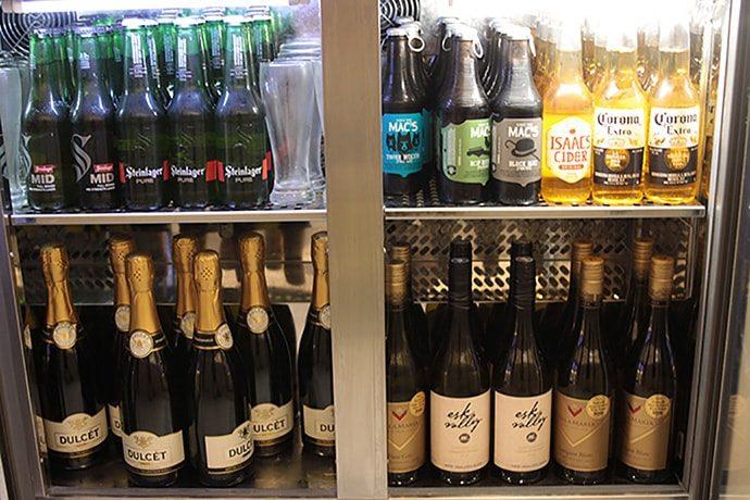 ビール、ワイン、シャンパンとお酒の充実度は凄いです