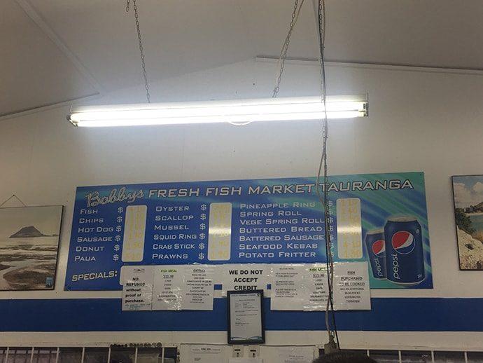 ニュージーランドのフィッシュアンドチップス