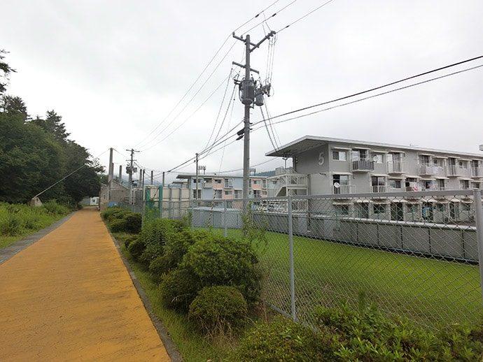 仮設住宅がある女川町
