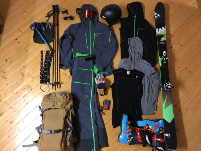 バックカントリースキーの装備