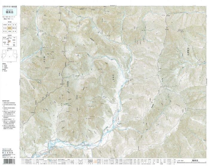 2万5千分1地形図