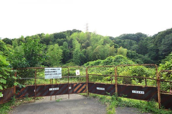 瀬上沢における開発予定地