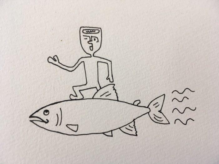 スオくんは鮭とば