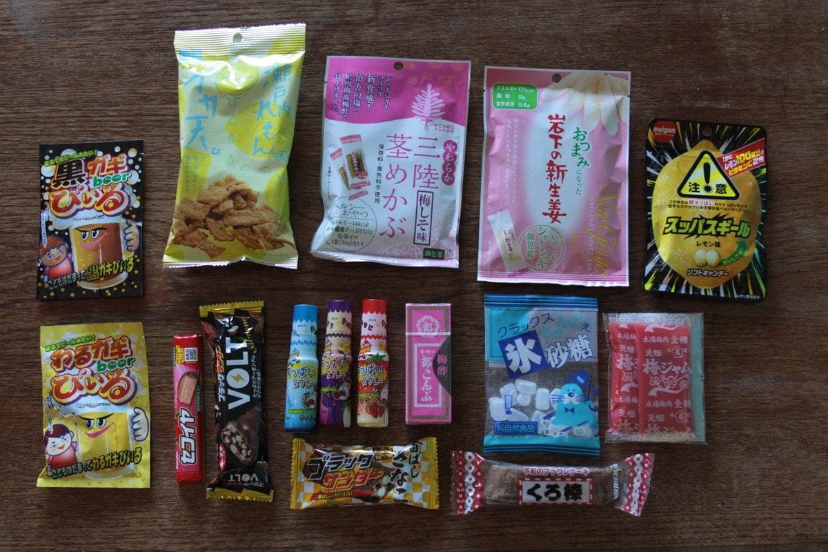 駄菓子の行動食