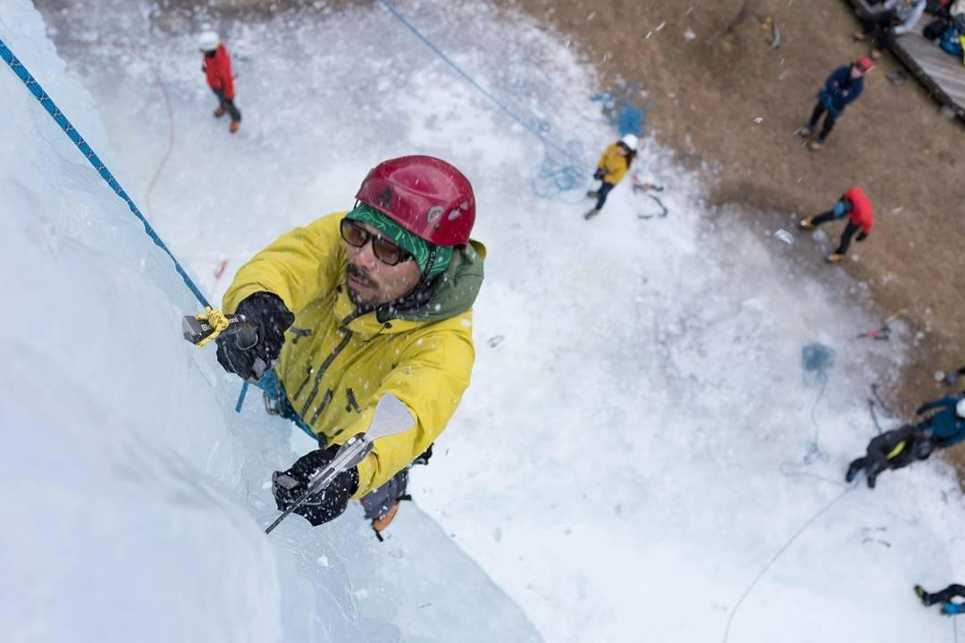 八ヶ岳でアイスクライミング