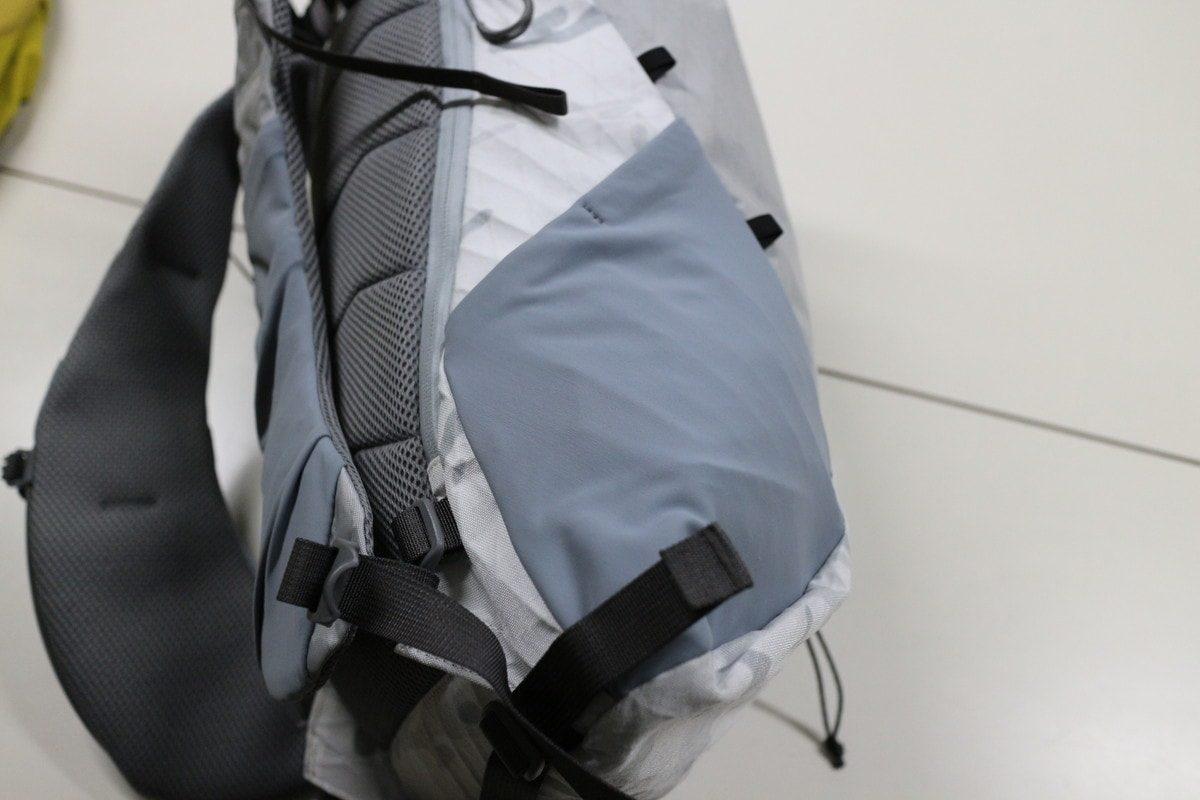 パーゴワークス ラッシュ28XPのサイドポケット