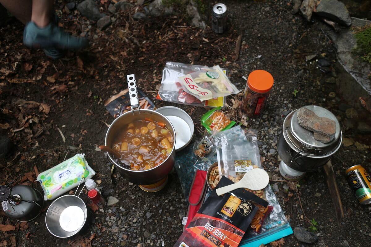 雲取山 三条の湯のテント場