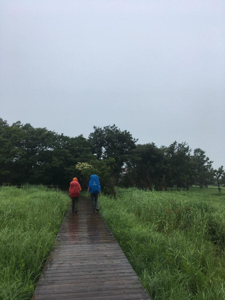 雨の山歩き