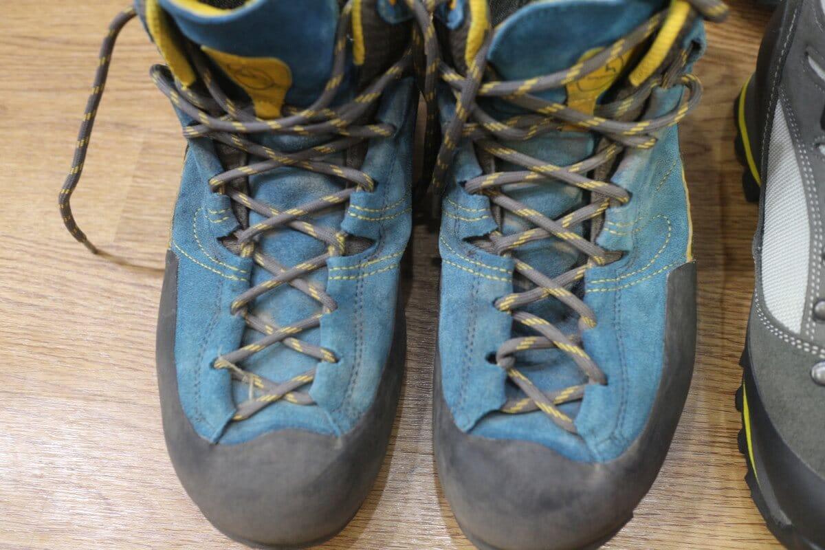 登山靴『ラスポルティバ ボルダー エックス ミッド GTX』のシューレース