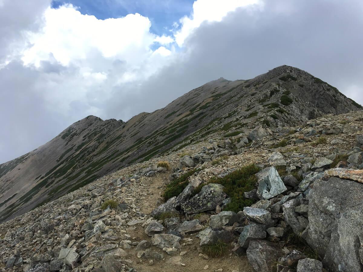 薬師岳の山頂