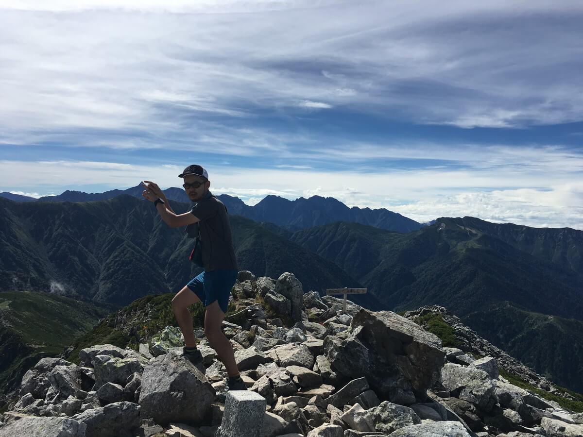 黒部五郎岳へ登頂