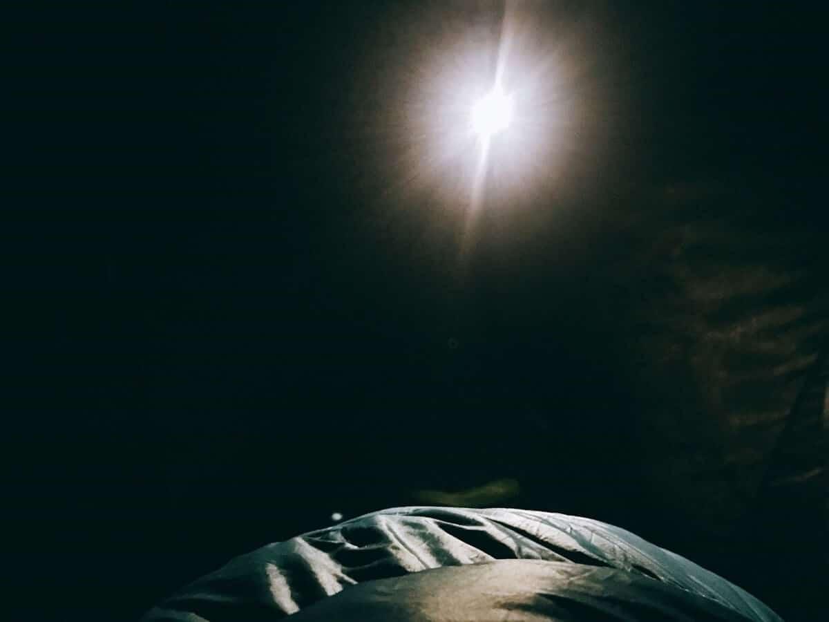 薬師峠でのテント