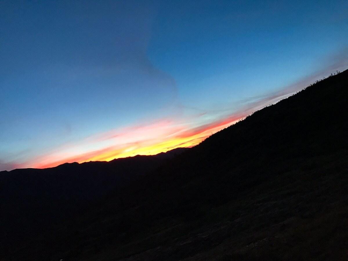 北アルプスの夜景