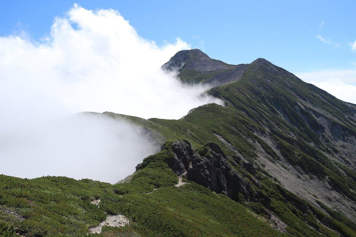 笠ヶ岳への登山道