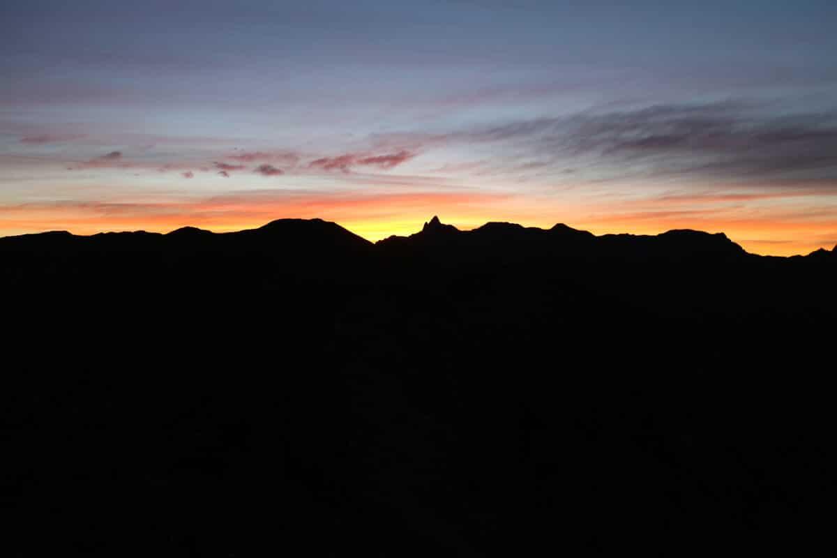 笠ヶ岳のテント場からの景色