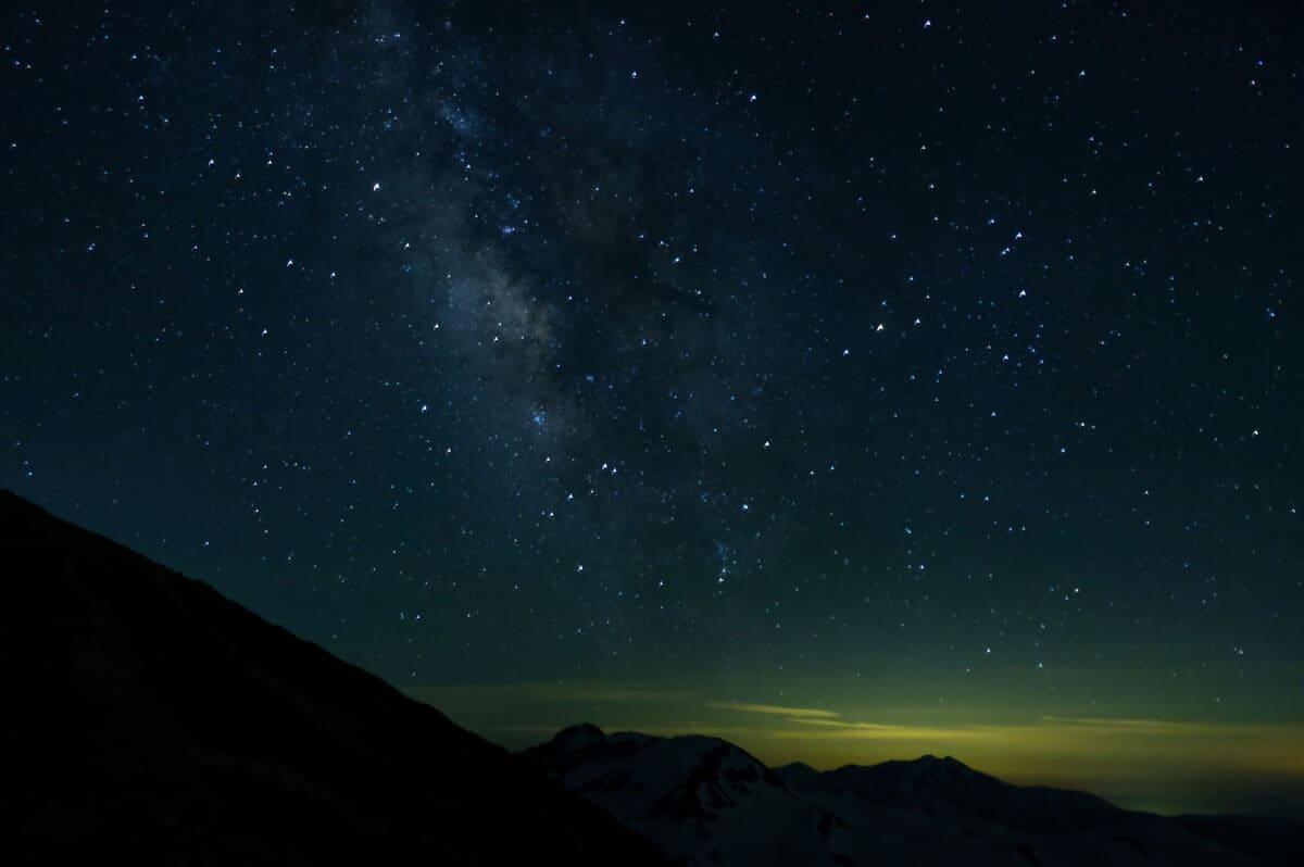 剱岳での夜景