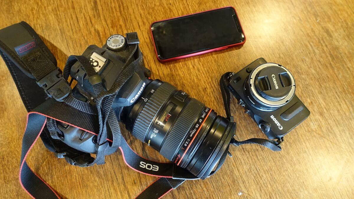 登山で持ち歩いていたカメラ