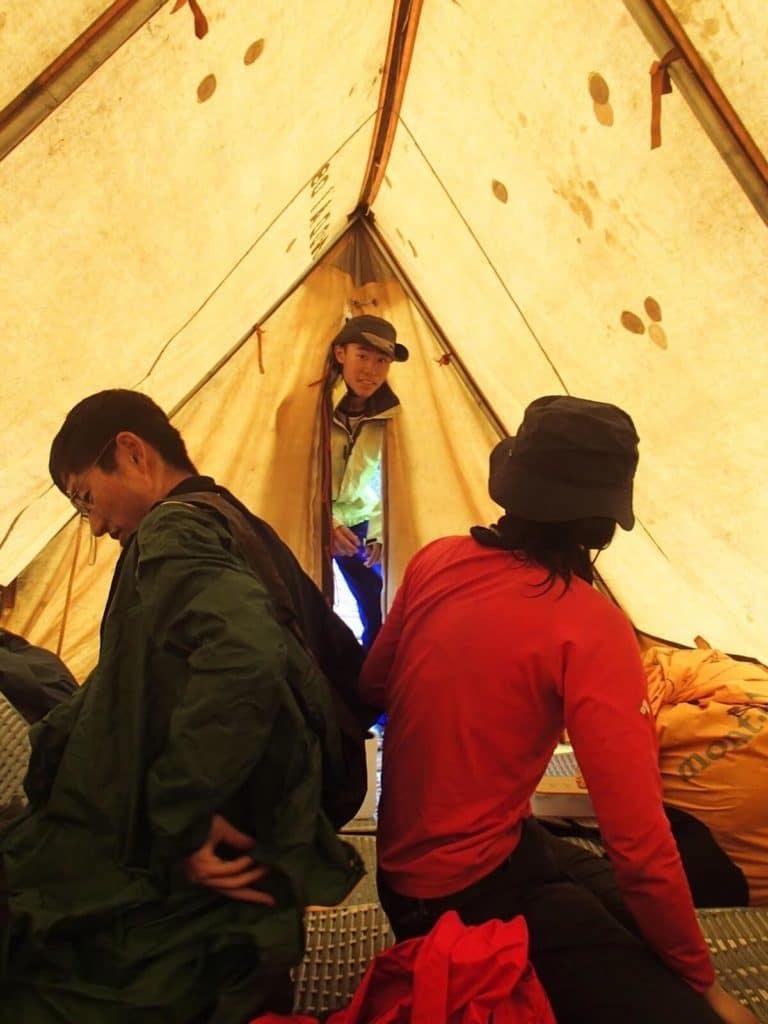 農大山岳部のテント