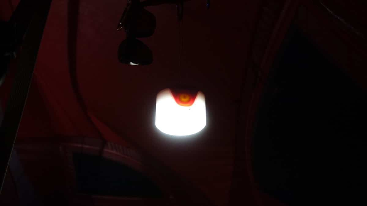UCOのLEDランタンの明るさと切り替え