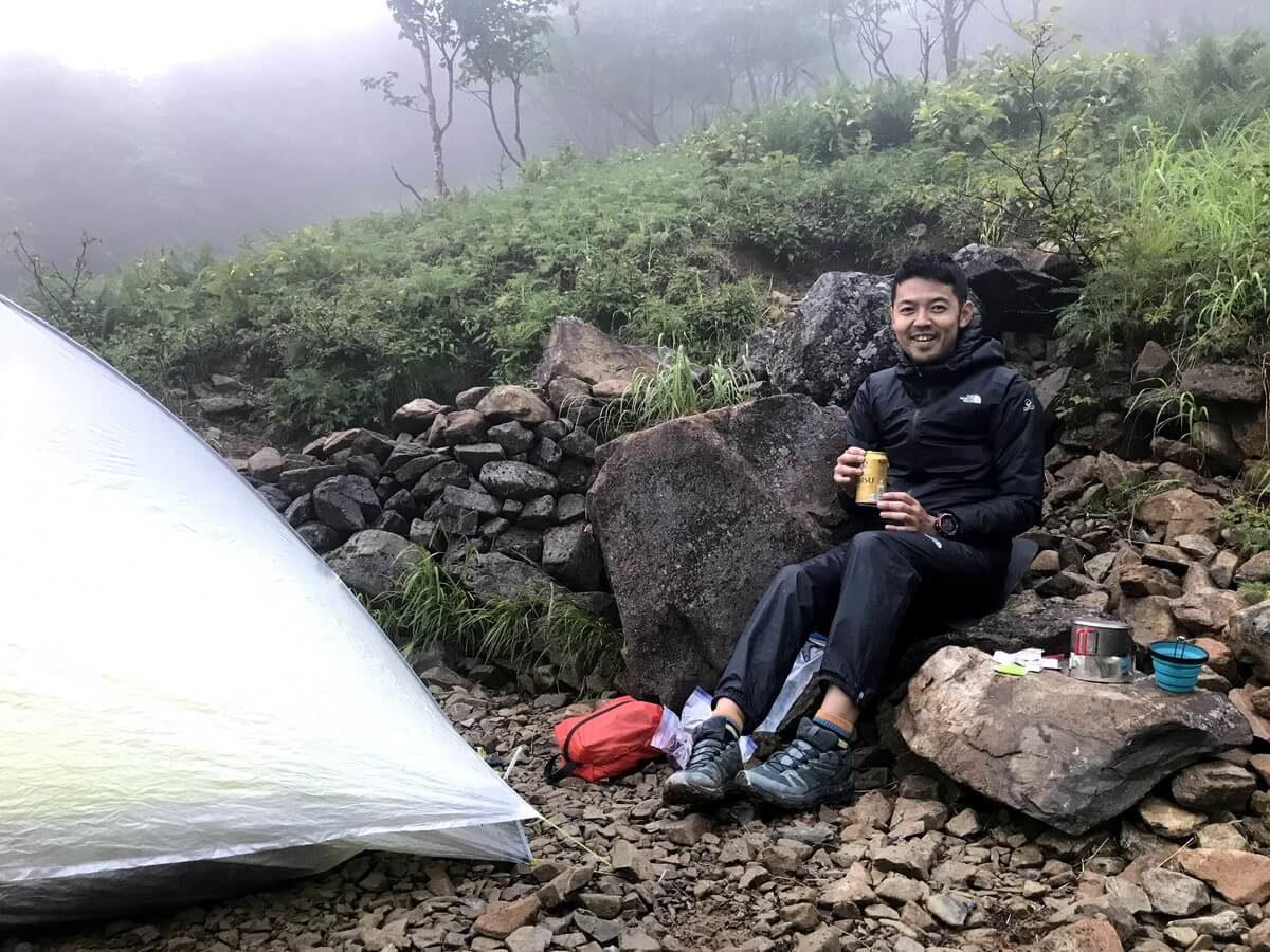 百間洞山の家のテント場