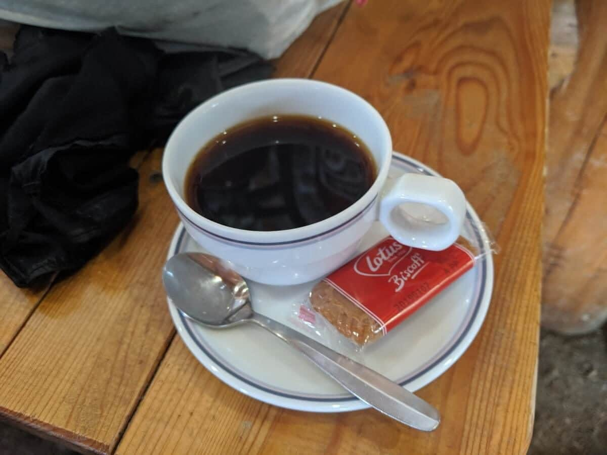 光岳でブレンドコーヒー