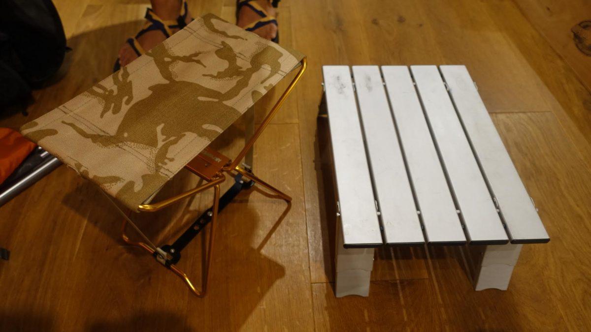 コンパクトになるテーブル・椅子