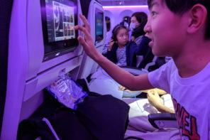 ニュージーランド・ローカル旅 ~ニュージーランド航空のサービスに驚く子どもたち~
