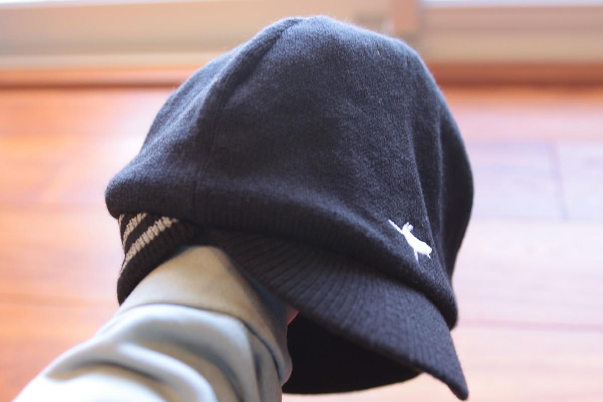 シールスキンズ ベルギースタイル・サイクリングキャップ両耳をカバーするリブ編み部分