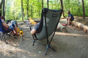 寝ることも出来るキャンプチェア enoラウンジチェアー
