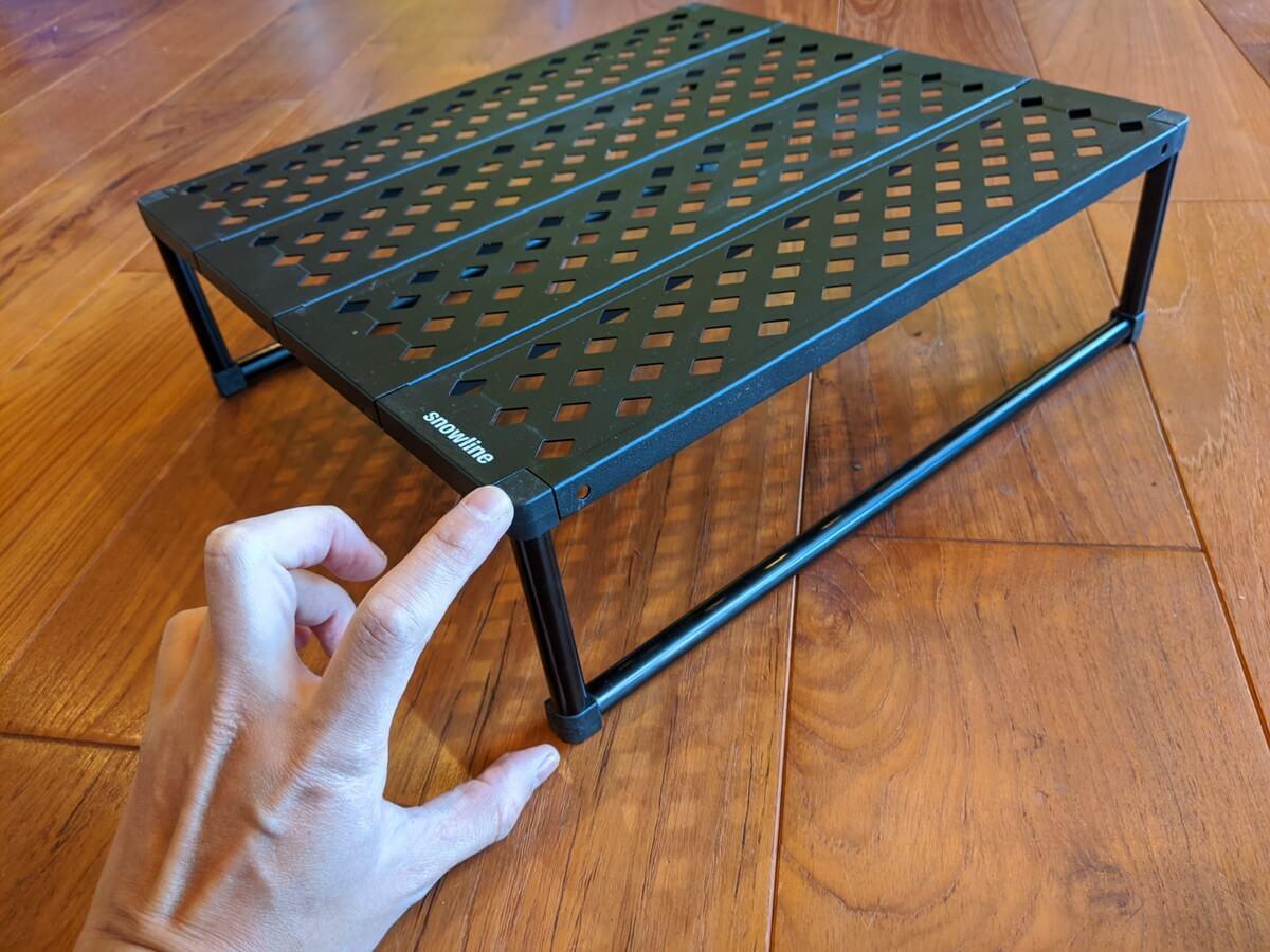 軽量テーブル snowlineキューブグラウンドテーブルの高さ
